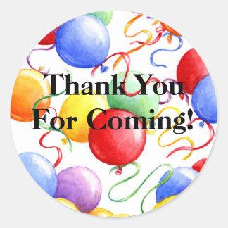 Thank You Stickers Party Balloons Roun