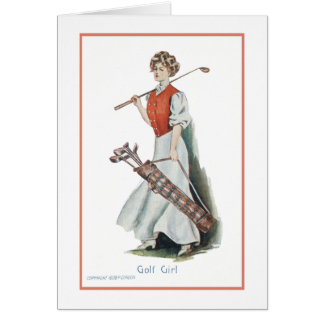 Thank You: Woman Golfer Note Card