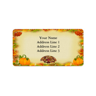 Thanksgiving Address Labels
