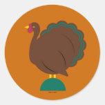 Thanksgiving Martzkin Sticker Sheet © 2012 M. Mart