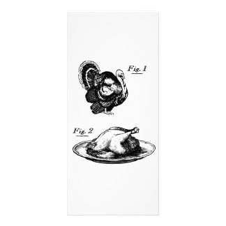 Thanksgiving Turkey Before and After Rack Card Template