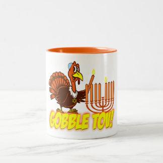 Thanksgivukkah Turkey Gobble Tov Mug