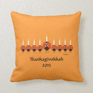 Thanksgivukkah Turkey Menorah Pillow Cushion
