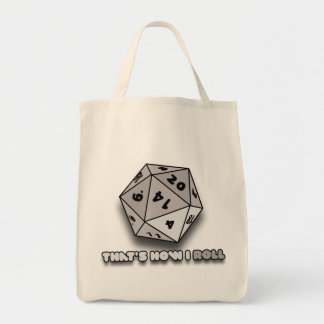 That's How I Roll d20 Grocery Tote Bag