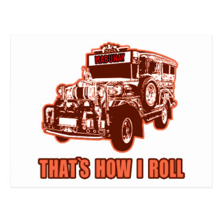That's How I Roll Jeepney Postcard
