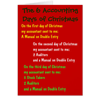 The 6 Accounting Days of Christmas Greeting Card