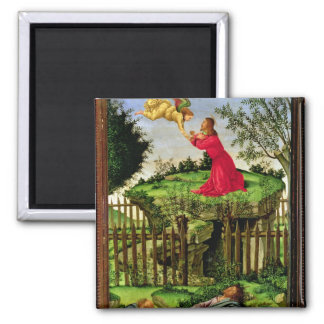 The Agony in the Garden, c.1500 Square Magnet