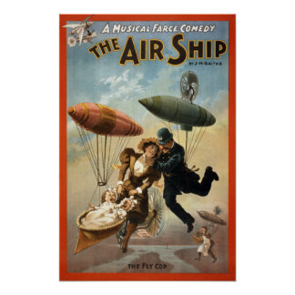 The Air Ship - The Fly Cop Poster