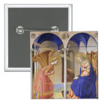 The Annunciation by Fra Angelico 15 Cm Square Badge