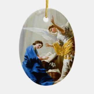 The Annunciation Francisco José de Goya fine art Ceramic Oval Decoration