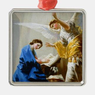 The Annunciation Francisco José de Goya fine art Silver-Colored Square Decoration