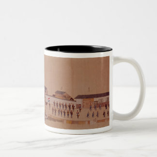 The Arrival of the Dutch in Japan,, 18th century Two-Tone Mug