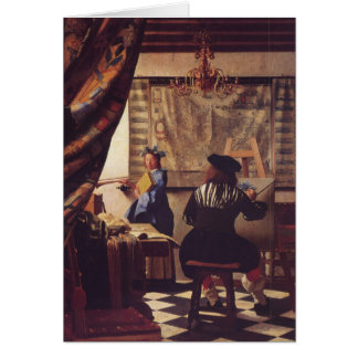 The Art of Painting by Johannes Vermeer Greeting Card