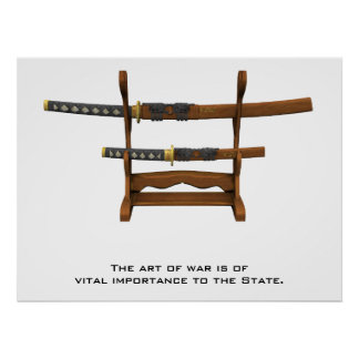 The art of war is of vital importance to the state poster