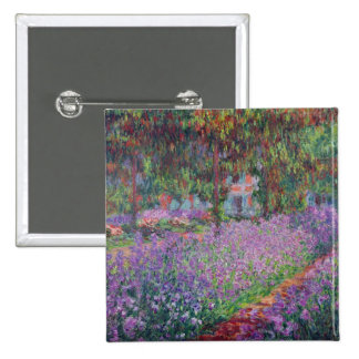 The Artist's Garden at Giverny, 1900 15 Cm Square Badge