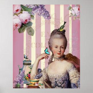Thé au Petit Trianon – rose Poster