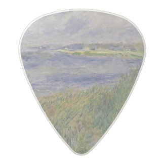 The Banks of the Seine, Champrosay, 1876 Acetal Guitar Pick