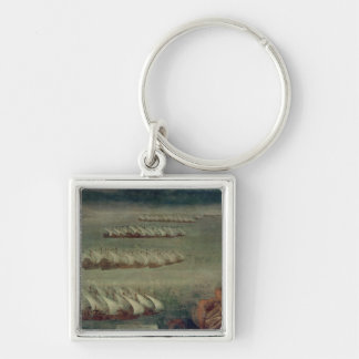 The Battle of Lepanto, 7th October 1571 Silver-Colored Square Key Ring