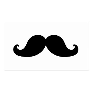 THE BEST BLACK MUSTACHE PACK OF STANDARD BUSINESS CARDS