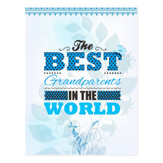 The best grandparents in the world postcard