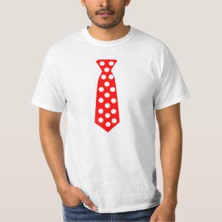 The Big Red and White Polka Dot Tie. Fun Pop Art. T Shirt
