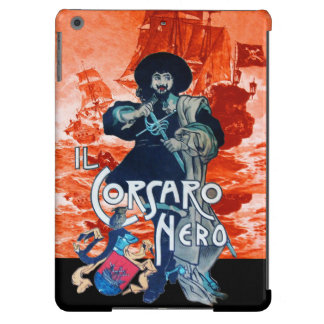 THE BLACK CORSAIR /Pirate Ship Battle In Red iPad Air Cases
