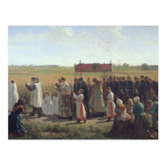 The Blessing of the Wheat in the Artois, 1857 Postcard