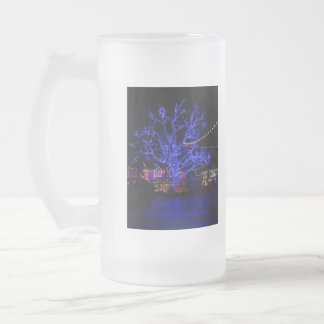 The Blue Tree Greetings Frosted Glass Mug