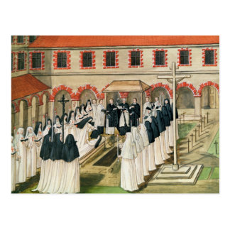 The Burial of a Nun, from 'l'Abbaye de Postcard