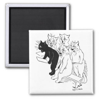 The Cat Chorus Square Magnet
