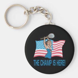 The Champ Is Here Basic Round Button Key Ring
