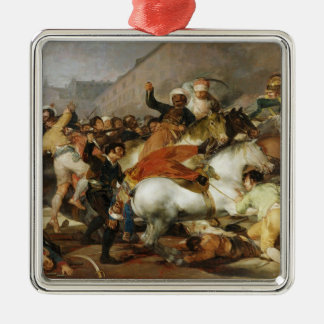 The Charge of Mamelukes Francisco José de Goya Silver-Colored Square Decoration