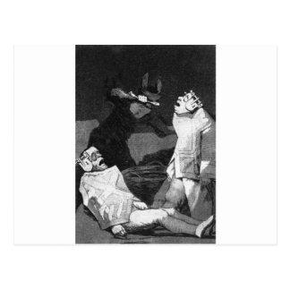 The Chinchillas by Francisco Goya Postcard