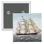 "The Clipper Ship ""Flying Cloud"" 15 Cm Square Badge"