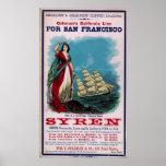 The Clipper Ship - Syren Poster