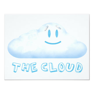 """The Cloud from """"The Bear, The Cloud, And God"""" 11 Cm X 14 Cm Invitation Card"""