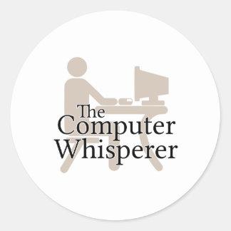 The Computer Whisperer Round Sticker