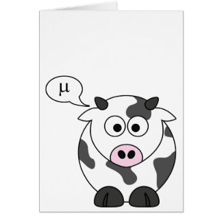 The Cow Says μ Greeting Card