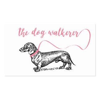 THE DOG WALKERER BUSINESS   DOG LOVER PINK PACK OF STANDARD BUSINESS CARDS