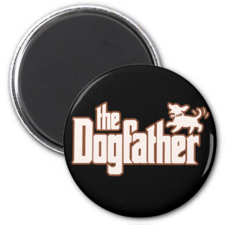 The Dogfather for Dog Owners 6 Cm Round Magnet
