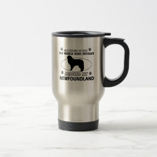 The dogs revolve around my newfounland stainless steel travel mug
