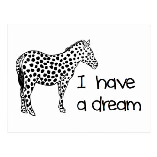 the dream of the zebra postcard