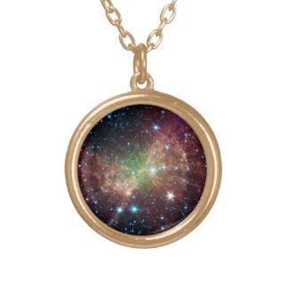 The Dumbbell Nebula Round Pendant Necklace