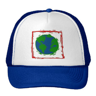 """""""The Earth"""" Blue Hat"""