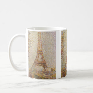 The Eiffel Tower by Georges Seurat Basic White Mug