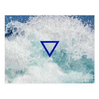 The Element Water Symbol Postcard