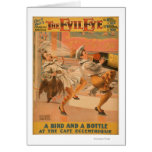 """The Evil Eye """"A Bird & a Bottle"""" Theatre Greeting Card"""