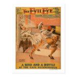 "The Evil Eye ""A Bird & a Bottle"" Theatre Postcard"