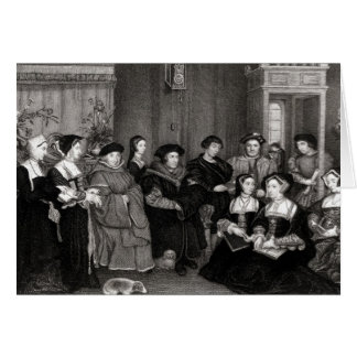 The Family of Thomas More Greeting Card