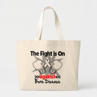 The Fight is On Against Bone Disease Jumbo Tote Bag